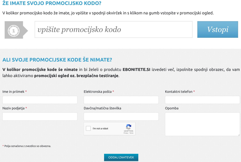spletni marketing - boniteta kontakt